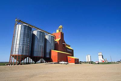 Grain Silos Saskatchewan Art Print by Buddy Mays