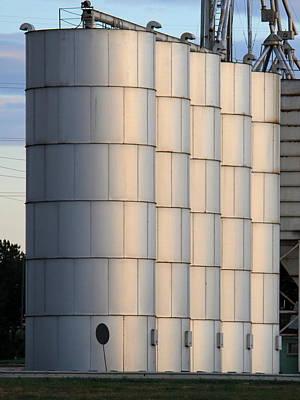 Photograph - Grain Silos by Trent Mallett