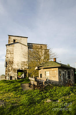 Photograph - Grain Storage And Machine Shop Litchfield Illinois by Deborah Smolinske