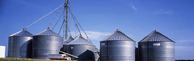 Grain Storage Bins, Nebraska, Usa Art Print by Panoramic Images