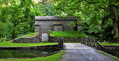 Photograph - Graining Mill And Sluice Bridge. Hagley Museum. by Chris  Kusik