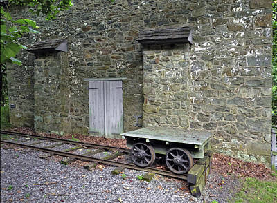 Photograph - Graining Mill And Tram. Hagley Museum. by Chris  Kusik