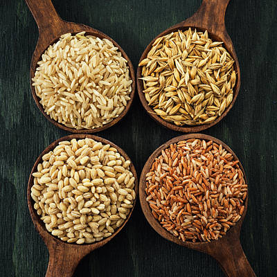 Whole Wheat Photograph - Grains Collection by Vishwanath Bhat