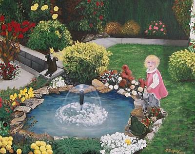 Painting - Gramma Nanna S Pond by Sharon Duguay