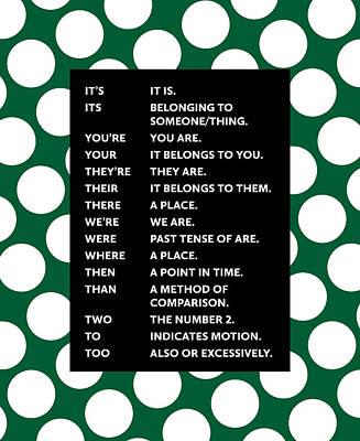 Grammar Rules Art Print