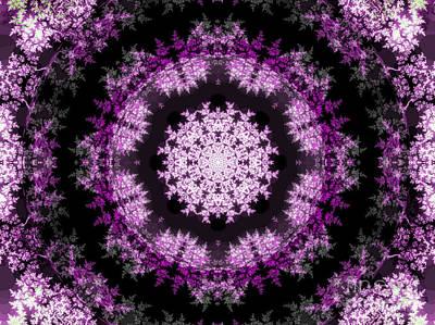 Doily Digital Art - Grammy's Psychedelic Doily by Elizabeth McTaggart
