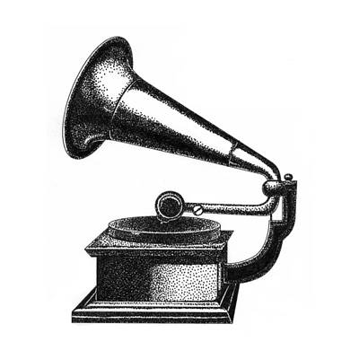 Gramophone Art Print by Christy Beckwith