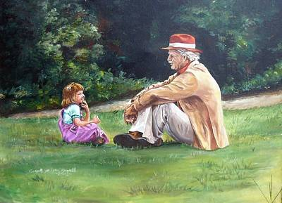 Grampa's Bible Stories Art Print by Carole Powell