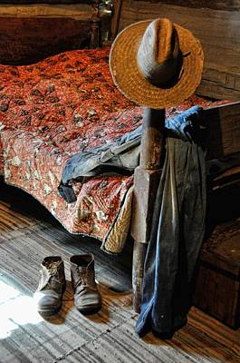 Log Cabin Interiors Photograph - Grampa's Gone by Jan Amiss Photography