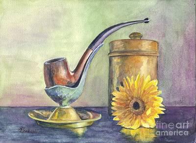 Painting - Grampas Pipe by Carol Wisniewski