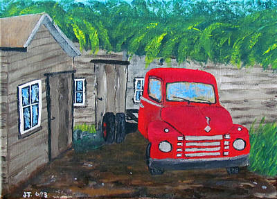 40s Painting - Grampa's Place by William Jack Thomas