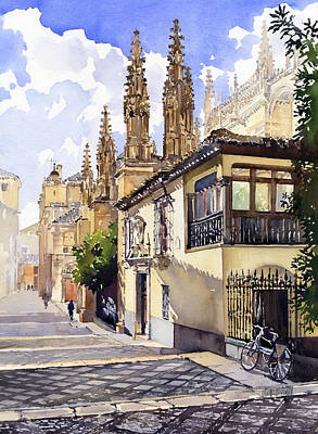 Granada Cathedral Art Print by Margaret Merry