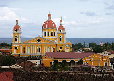 Photograph - Granada Cathedral Nicaragua by Rudi Prott