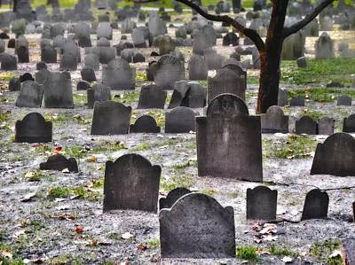 Photograph - Granary Burying Ground  by Lars Lentz