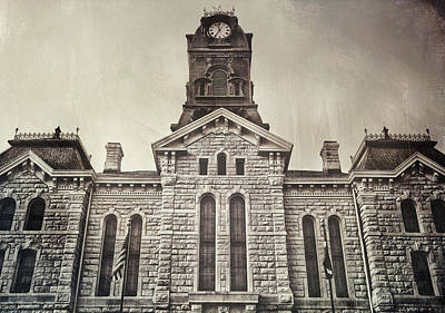 Granbury Courthouse Art Print by Pair of Spades