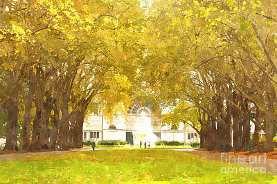 Historic Site Digital Art - Grand Allee Ceremonial Avenue At Carlton Gardens by Beverly Claire Kaiya