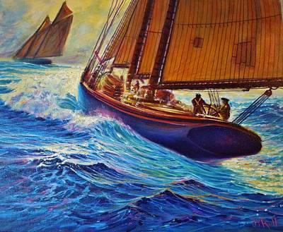 Painting - Grand Banks Fishermen by Joseph   Ruff