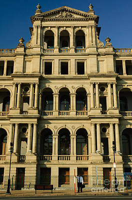 Photograph - Grand Building Of Yesteryear - The Impressive  Treasury Casino - Brisbane - Australia by David Hill