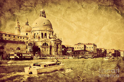 Photograph - Grand Canal And Basilica Santa Maria Della Salute In Venice Italy by Michal Bednarek