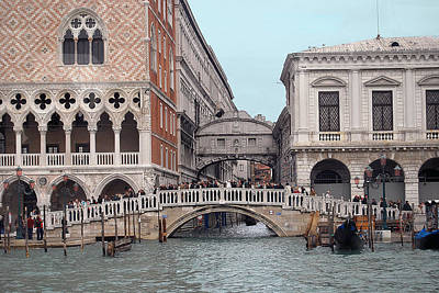 Photograph - Grand Canal And Bridge Of Sighs by Caroline Stella