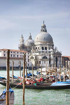 Grand Canal And Santa Maria Della Salute Basilica Print by Gabriela Insuratelu