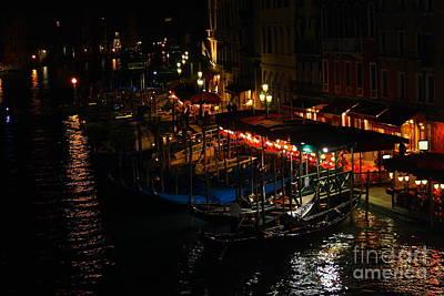 Photograph - Grand Canal At Night by Theresa Ramos-DuVon