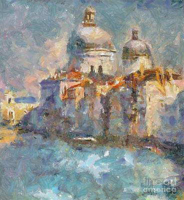 Italy Painting - Grand Canal by Dragica  Micki Fortuna