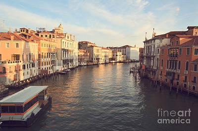 Accademia Photograph - Grand Canal From Accademia Bridge In Venice by Matteo Colombo