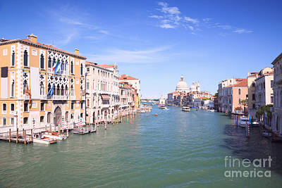 Accademia Photograph - Grand Canal From Accademia Bridge by Matteo Colombo