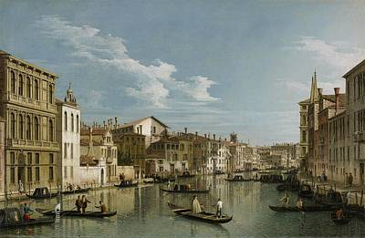 Reflecting Water Painting - Grand Canal From Palazzo Flangini To Palazzo Bembo by Canaletto