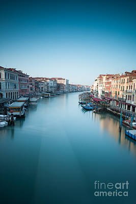 Grand Canal In Blue Art Print by Matteo Colombo