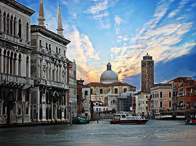 Photograph - Grand Canal In Venice by Anthony Dezenzio