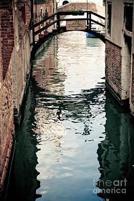 Grand Canal In Venice Italy Art Print by Raimond Klavins