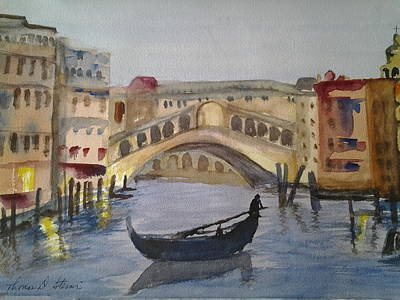 Painting - Grand Canal In Venice by Tom Steiner