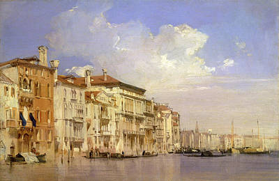 Rivets Drawing - Grand Canal, Venice Grand Canal, Venice, Italy by Litz Collection