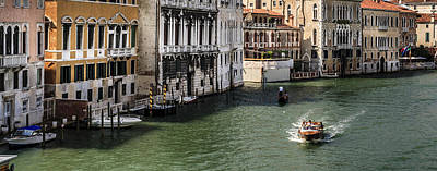 Photograph - Grand Canal Venice Italy by Alex Saunders