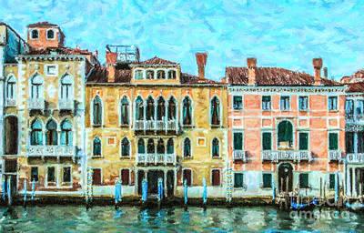 Digital Art - Grand Canal Venice Italy by Liz Leyden