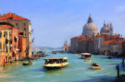 Grand Canal - Venice Print by Marc Laytar
