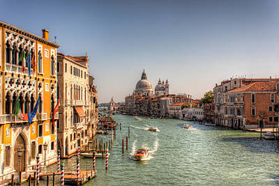 Accademia Photograph - Grand Canal Venice by Nico Trinkhaus