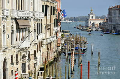 Grand Canal View From Academia Bridge Print by Sami Sarkis
