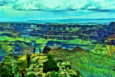Photograph - Grand Canyon #  3 - The Grandview by Allen Beatty