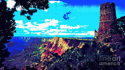 Grand Canyon Digital Art - Grand Canyon by Celestial Images