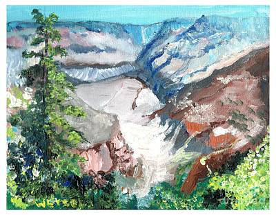 Painting - Grand Canyon After Hike by Joseph Wetzel
