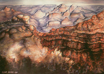 Painting - Grand Canyon Arizona - Landscape by Art America Gallery Peter Potter