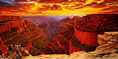 Painting - Grand Canyon At Sunset by Alan Conder