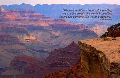 Photograph - Grand Canyon Billy Graham by Bob Pardue