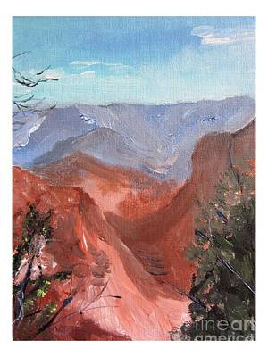 Painting - Grand Canyon Bright View by Joseph Wetzel