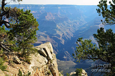 Travel Photograph - Grand Canyon Cliff Pointing The Way To The North Rim by Shawn O'Brien