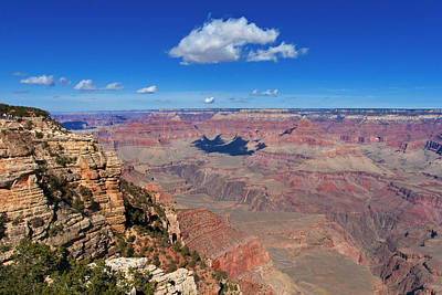 Photograph - Grand Canyon Cloud Shadow by Lou Ford