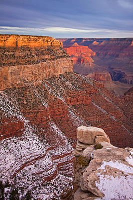 Photograph - Grand Canyon With Light Dusting Of Snow by Jennifer Lycke